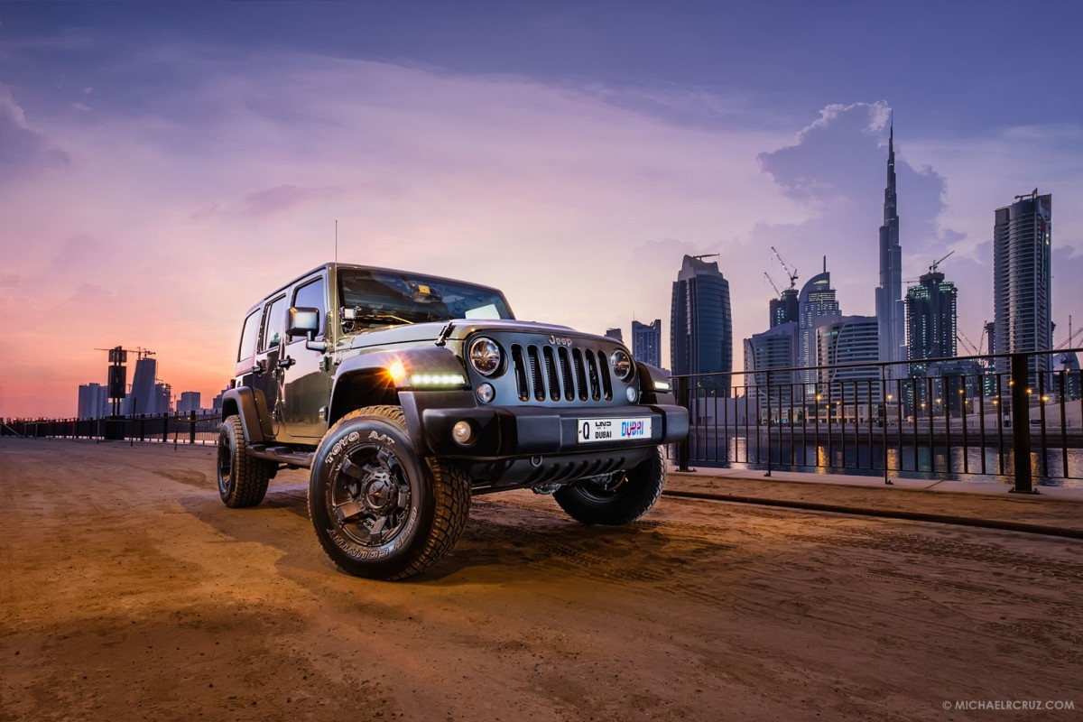 Jeep Wrangler Dubai, UAE, Automotive Photographer Michael R. Cruz