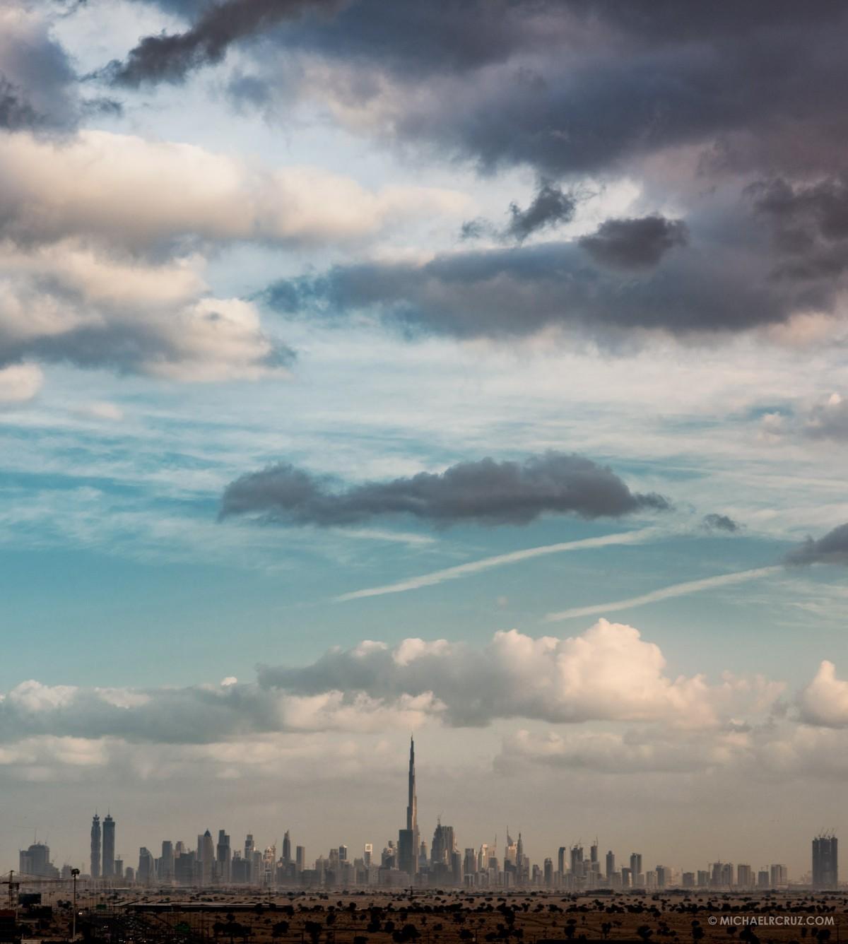 Michael R. Cruz Dubai Photographer. Cloudy Dubai