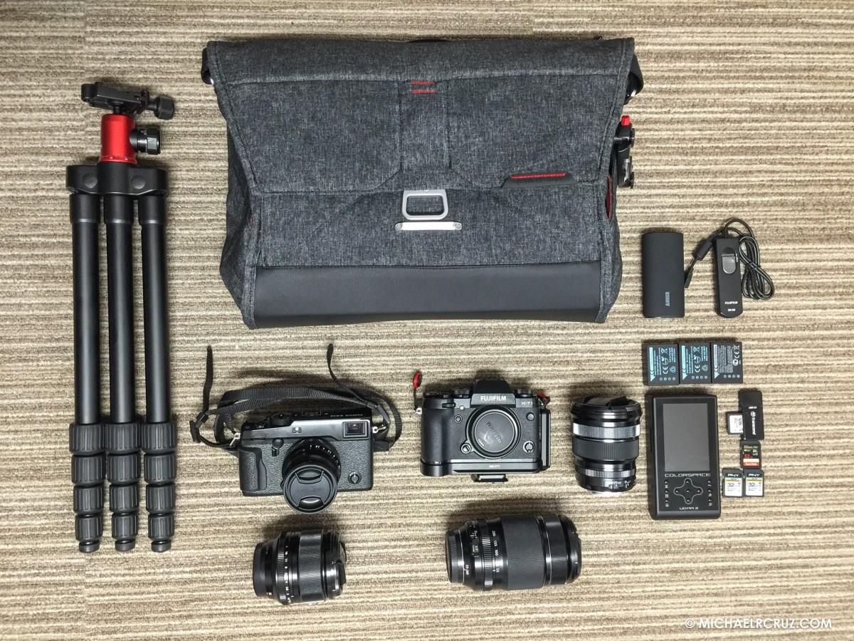 Travel kit Japan Michael R. Cruz Dubai Photographer
